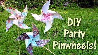 Diy Party Pinwheels