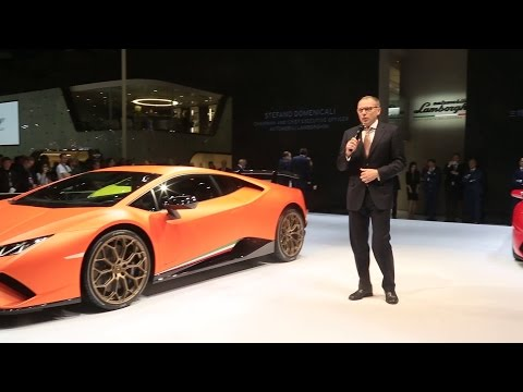 Huracán Performante and the Aventador S at Auto Shanghai