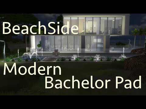 The Sims 4 Speed Build: Beachside Modern Bachelor Pad