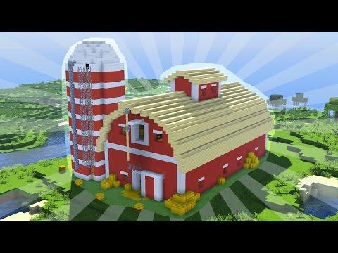 How To Build a Minecraft BARN (CREATIVE BUILDING)
