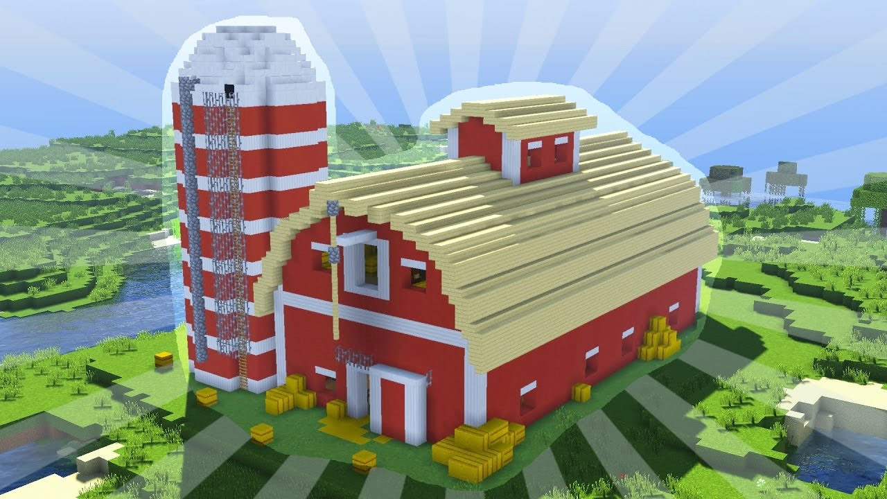 How To Build A Minecraft Barn Creative Building Youtube