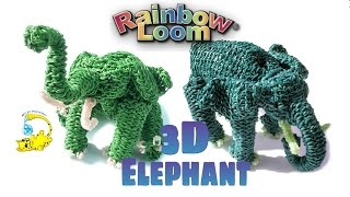 Rainbow Loom 3D Elephant (Part 5/6) Elefante, слон, l'éléphant, 象