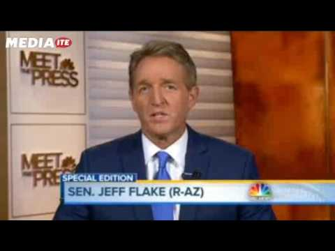 Sen. Jeff Flake Denies Thinking About Leaving GOP Over Trump: 'I'm a Proud Republican'