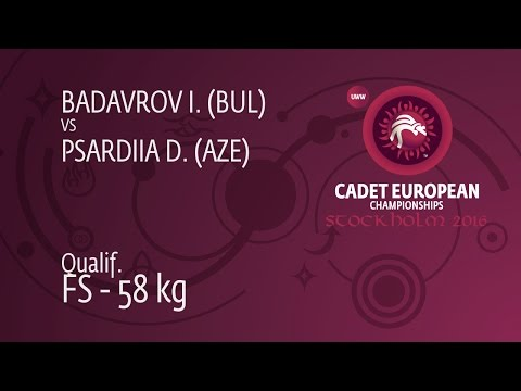 Qual. FS - 58 Kg: D. PSARDIIA (AZE) Df. I. BADAVROV (BUL), 11-8