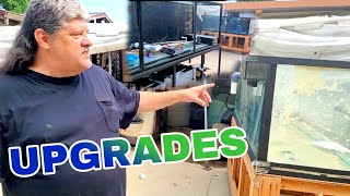 ***FISH TANK TETRIS*** Moving and Setting up OVER 1500 More Gallons for Monster Fish