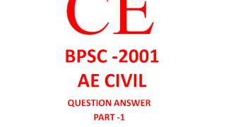 bpsc ae 2001 civil engineering question part 1