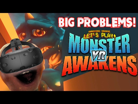 Midget Apple Plays - Monster Awakens VR: BIG PROBLEMS!