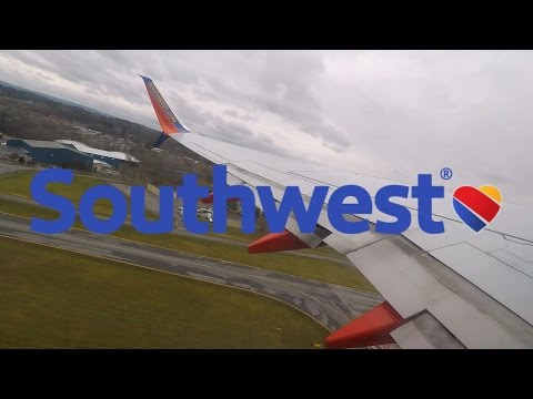 HD Southwest Airlines Boeing 737-8H4 N8307K Split Scimitar Takeoff from Albany International Airport