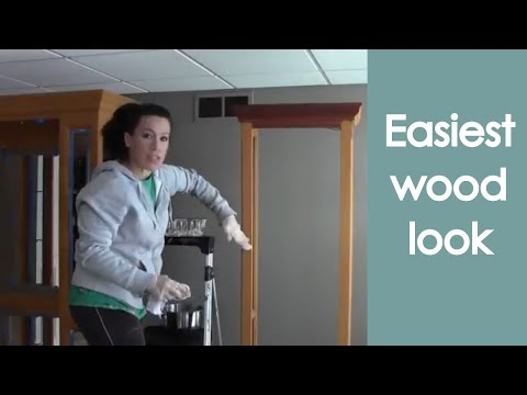 Faux Wood Grain Finish (how to paint) - Renee Romeo