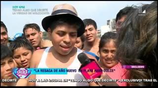Video La resaca de Año Nuevo en la playa Agua Dulce download MP3, 3GP, MP4, WEBM, AVI, FLV Juli 2018