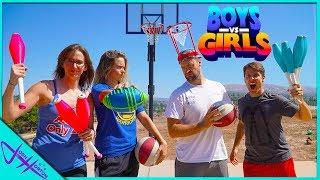 BOYS vs GIRLS Trick Shot H.O.R.S.E. (Juggling Edition)