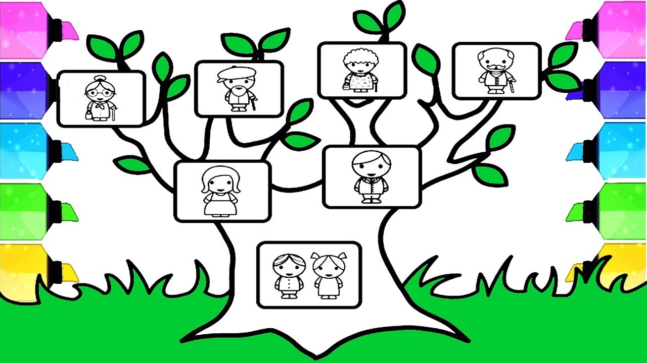 family tree drawing how to draw family tree step by step easy