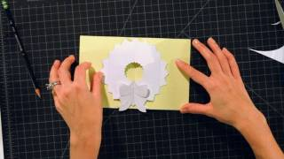 How To Make A Wreath Pop-up Card | Pop-up Cards