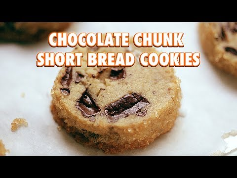 Salted Chocolate Chunk Short Bread Cookies