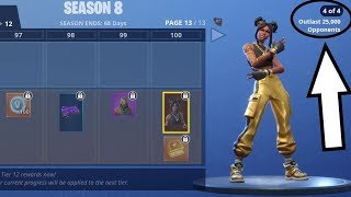 How to OUTLIVE 25000 OPPONENTS and Unlock MAX LUXE SKIN FAST! (Fortnite Season 8)