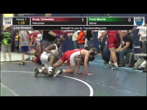 3117 Schoolboy 144 Rudy Detweiler Wisconsin vs Fred Morris Illinois 7862018104