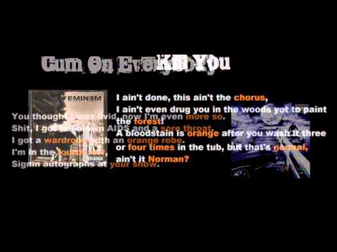 All 12 Songs where Eminem Rhymes with Orange!