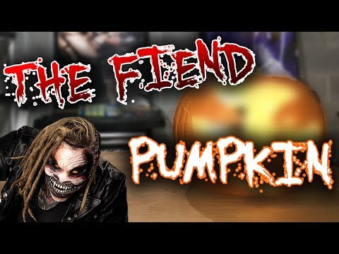 "MAKING A WWE BRAY WYATT ""THE FIEND"" HALLOWEEN PUMPKIN!!"