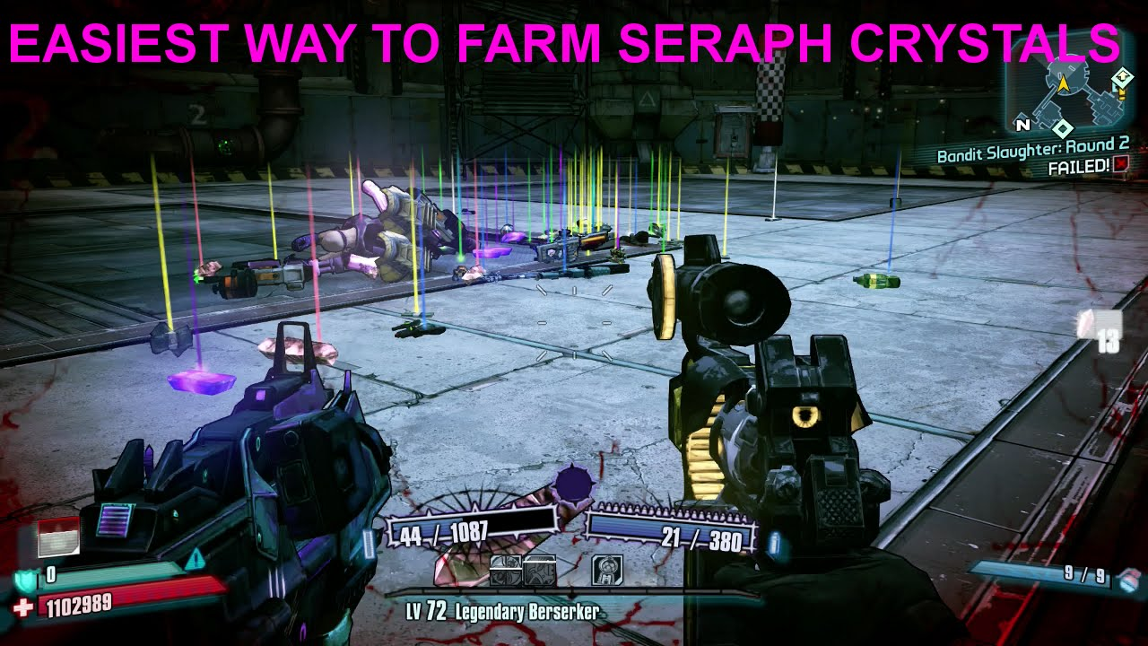 BORDERLANDS 2 HC GUIDE| How to Farm Seraph Crystals and Kill Pyro Pete  Easily