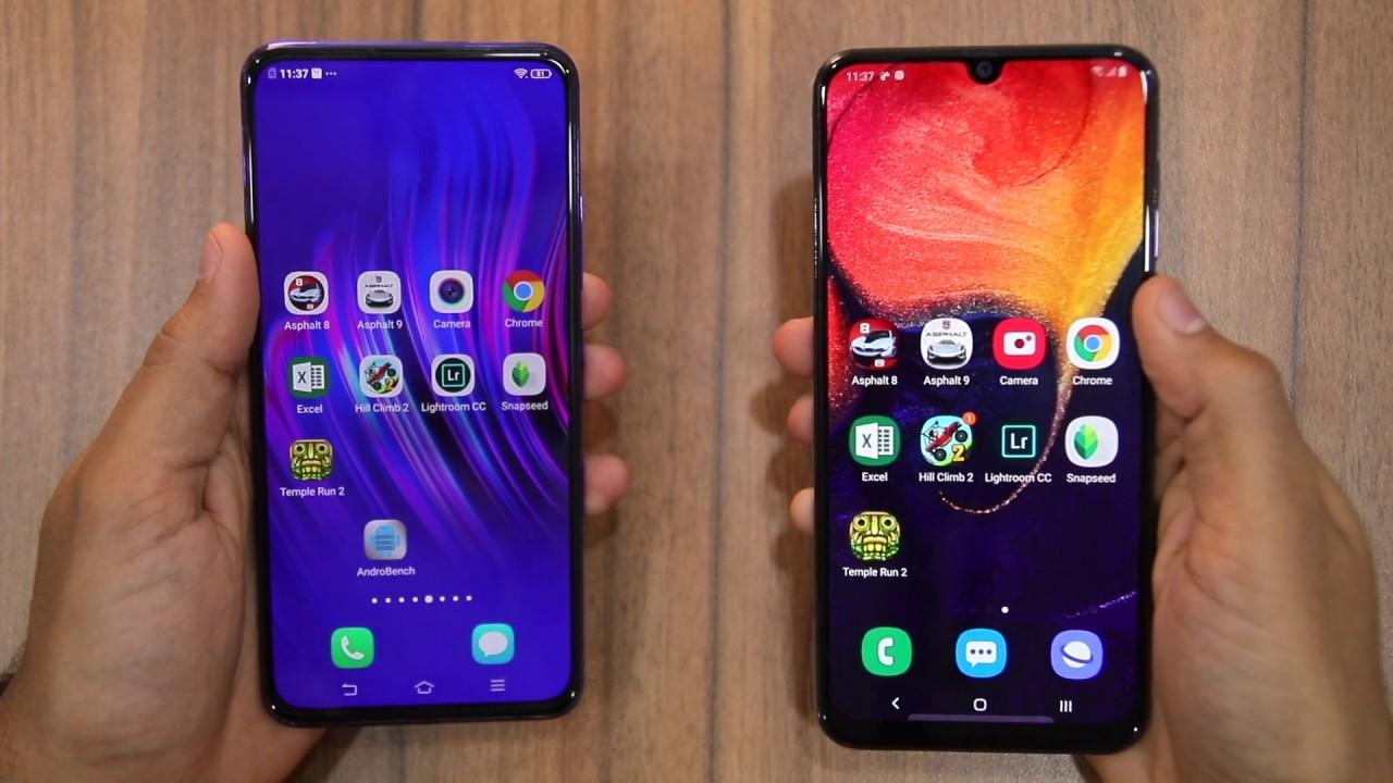 Galaxy A50 vs Vivo V15 Pro Speedtest - YouTube