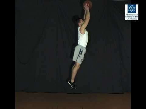 Basketball rebound - Slow motion video
