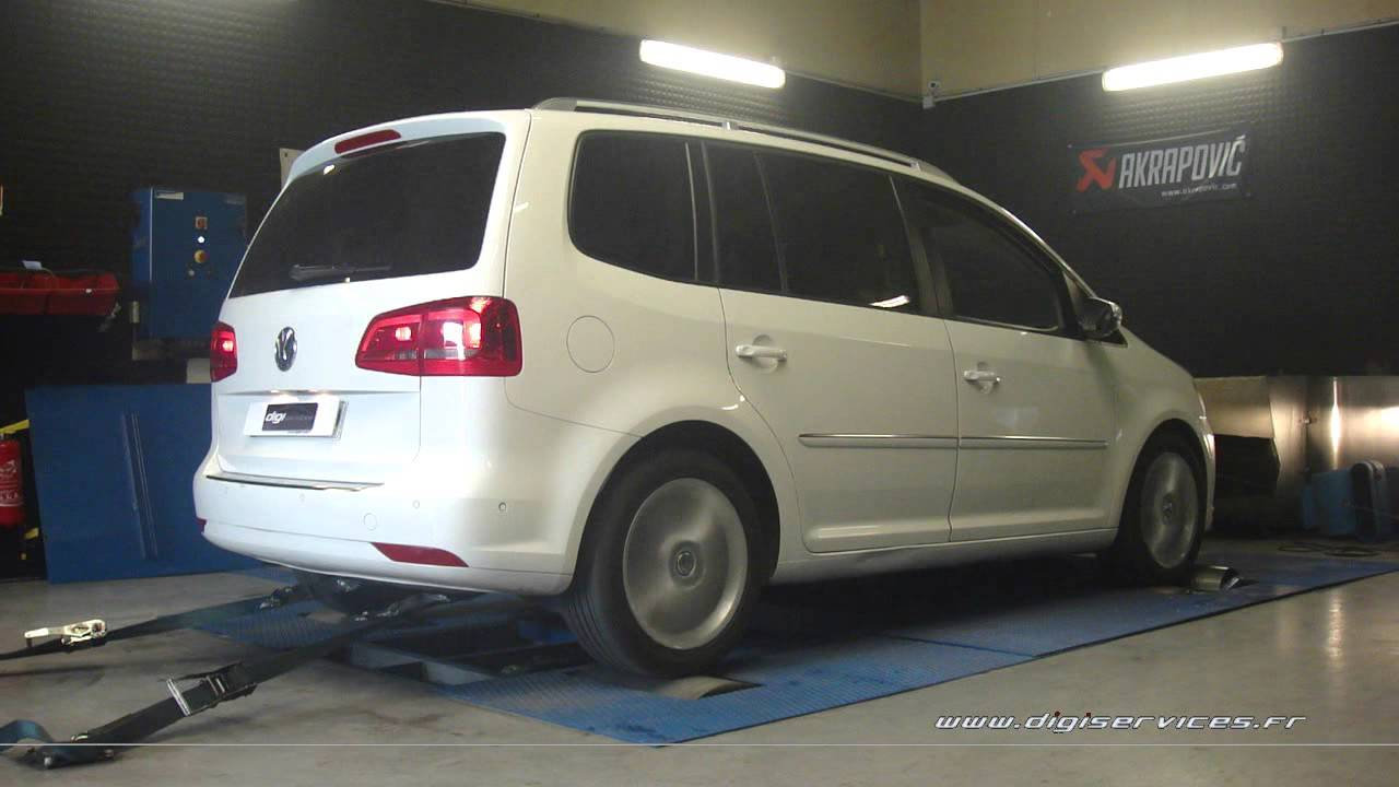 vw touran tsi 140cv dsg reprogrammation moteur 194cv digiservices paris 77 dyno youtube. Black Bedroom Furniture Sets. Home Design Ideas