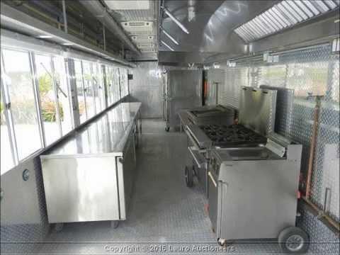 2007 35' Custom Mobile Kitchen Trailer - Lauro Auctioneers & Restaurant Equipment - South Florida
