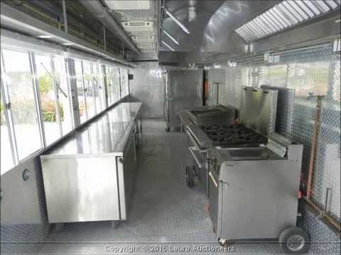 2007 35 39 Custom Mobile Kitchen Trailer Lauro Auctioneers Restaurant Equipment South