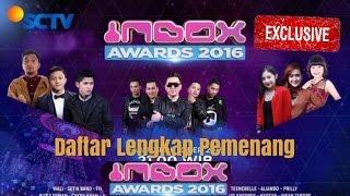 INILAH DAFTAR LENGKAP PEMENANG INBOX AWARDS 2016 SCTV