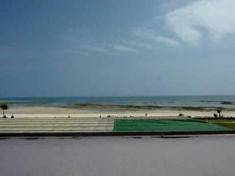 イーフビーチホテルの部屋からの景色