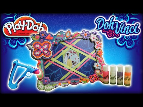 ♥ PlayDoh DohVinci Disney Princess Snow White ART Fairytale Picture Frame