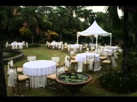 DIY Cheap outdoor wedding party ideas - YouTube
