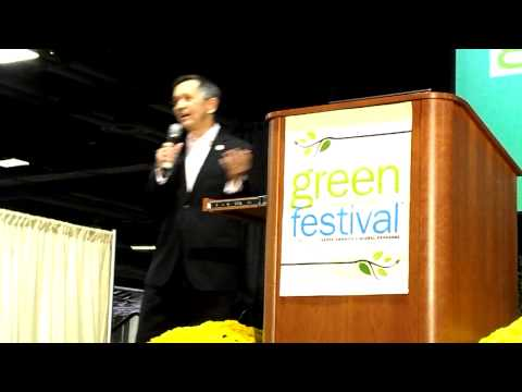 Green Festival Saturday September 29, 2012 Dennis and Elizabeth Kucinich Part 1