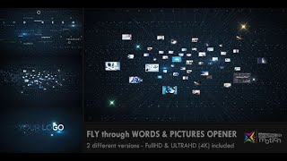 After Effects Template - Flying through Images & Words Opener