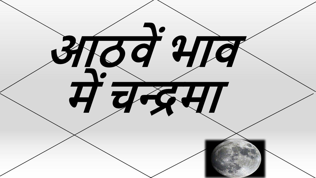 आठवें भाव में चन्द्रमा (Moon in 8th House) | Vedic Astrology | हिंदी (Hindi)