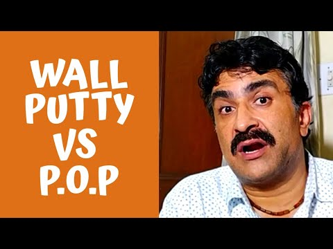 Wall Putty vs Pop - Plaster of Paris or Gypsum Plaster