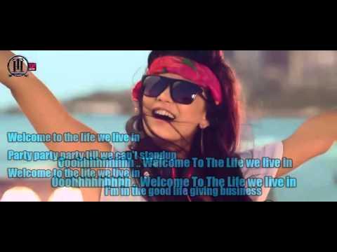 Welcome To The Life - Tamer Hosny FT Akon- lyrics HD