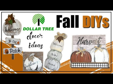 Dollar Tree FARMHOUSE FALL DIYs | DIY Dollar Tree FALL Decor Ideas 2019 | Momma From Scratch