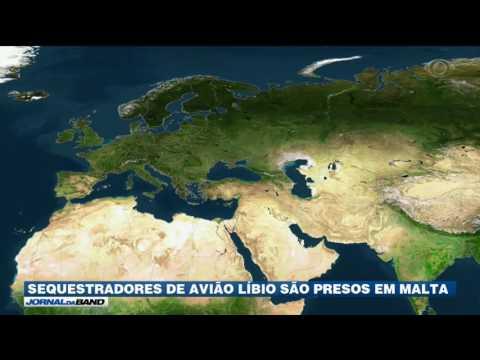 Sequestradores de avião líbio são presos em Malta