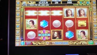 DaVinci Diamonds Slot $25 Per Spin - 22 Free Game Bonus Retrigger