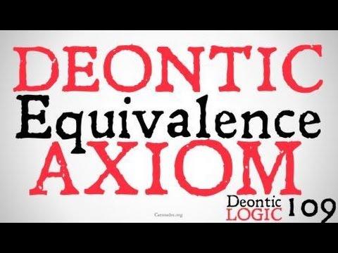 The Deontic Equivalence Axiom