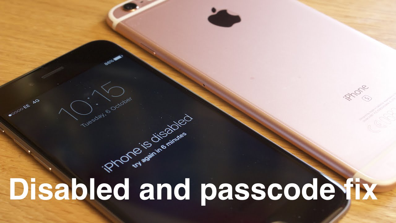 iphone 5s disabled how to remove reset any disabled or password locked 11190