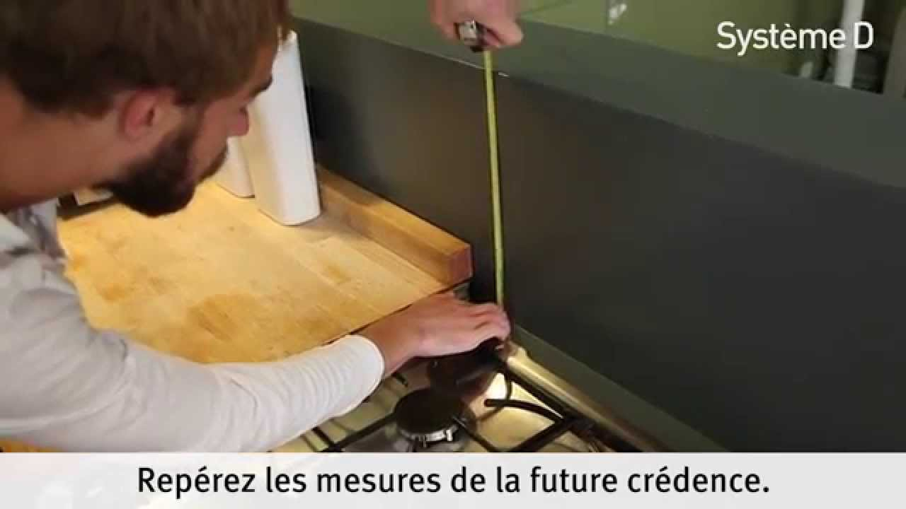 Fixer une cr dence alu inox dans la cuisine youtube - Credence cuisine autocollante ...