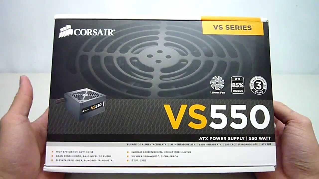 Corsair CP-9020097-UK VS Series ATX//EPS 80 PLUS Power Supply Unit 550 W