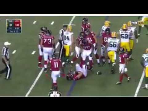 NFC Championship game - Alex Mack Injury 2nd Quarter