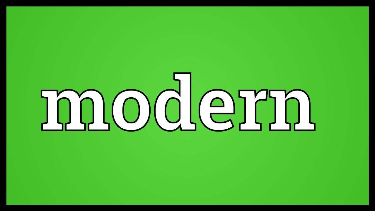 Modern meaning youtube - What does contemporary mean ...