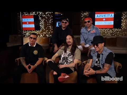 "Steve Aoki, Daddy Yankee, Play-N-Skillz & Elvis Crespo Talk Collaborative Track ""Azukita"""