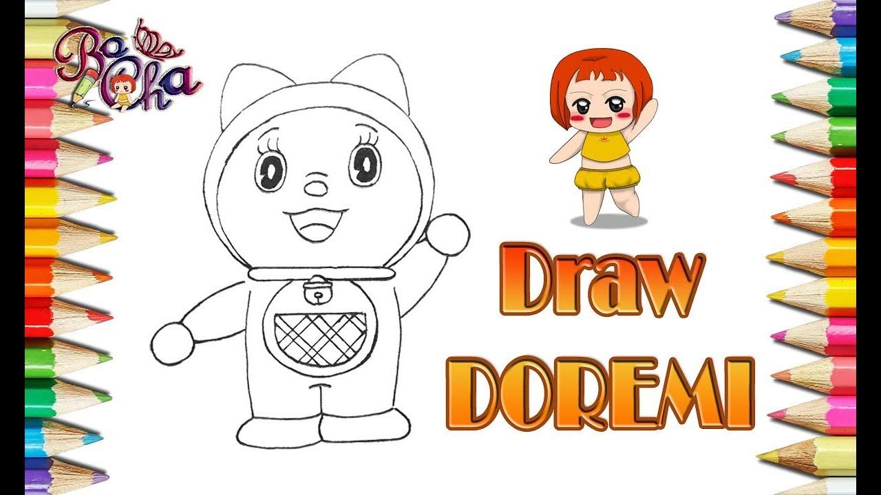 Vẽ Doremi đơn giản nhanh  – BoCha – how to draw doremi
