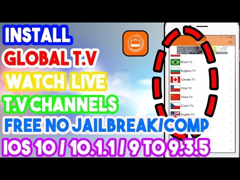 New Install Global T.V & Watch Live T.V Free No Jailbreak/Comp IOS 10/10.1.1/9 On IPhone/iPod/iPad