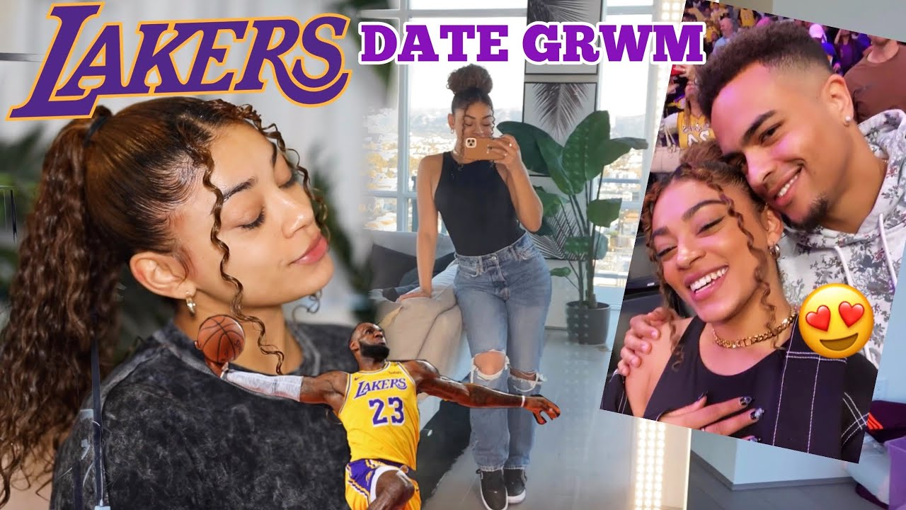LAKERS GAME DATE - Get Ready With Me | jasmeannnn